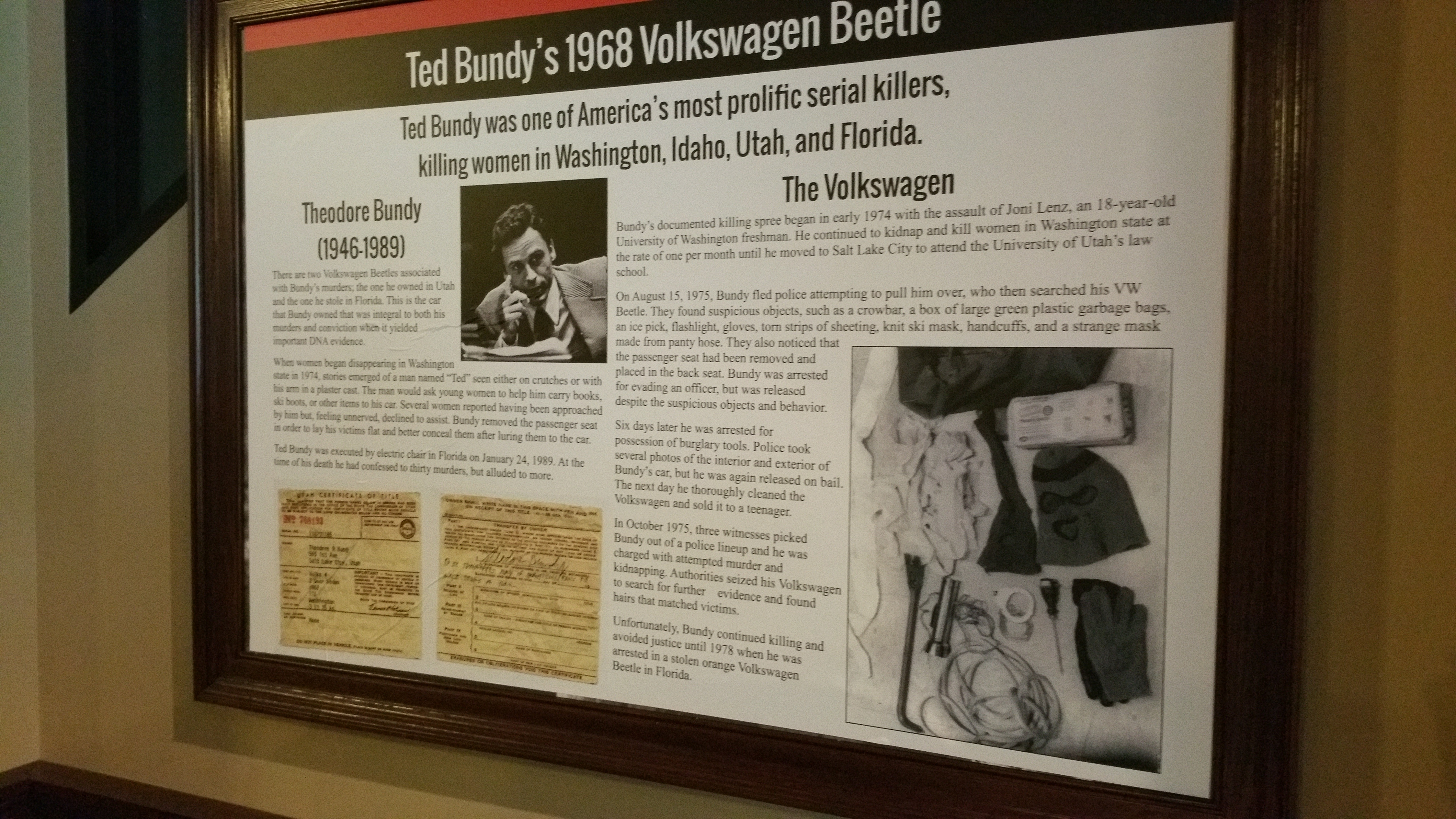 A Curious Look Inside Ted Bundy's VW Beetle | True Crime Magazine