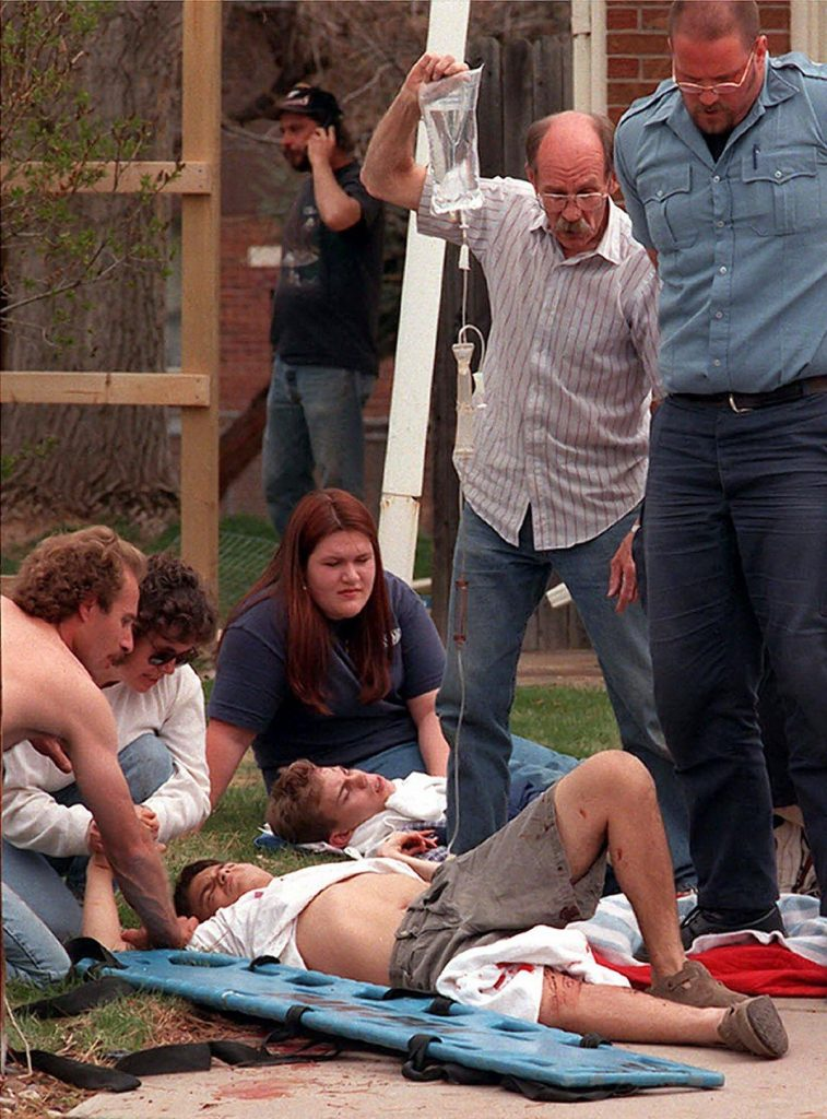 the massacre at columbine high school The columbine high school massacre occurred on april 20, 1999 at columbine high school in jefferson county near littleton, colorado, united statestwo students, eric david harris, age 18, and dylan bennet klebold, age 17, executed a planned shooting rampage killing 12 other students and a teacher before committing suicide.