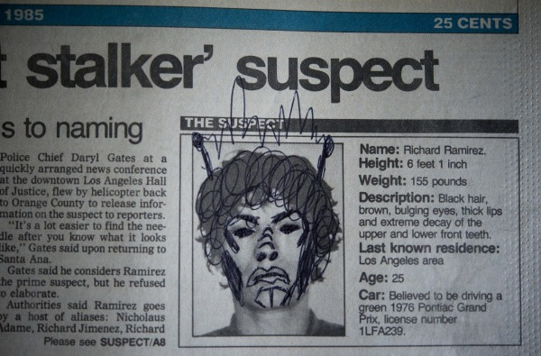 victim-doodled-richard-ramirez Meet the 13-Year-Old Boy Who Caught a Notorious Serial Killer