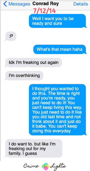 michelle-carter-conrad-roy-texts-10 A Disturbing Collection of Michelle Carter's Texts Encouraging Her Boyfriend To Commit Suicide