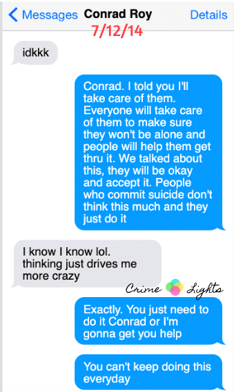 michelle-carter-conrad-roy-texts-11 A Disturbing Collection of Michelle Carter's Texts Encouraging Her Boyfriend To Commit Suicide