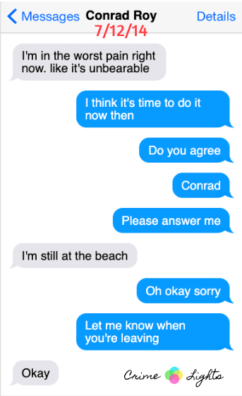 michelle-carter-conrad-roy-texts-16 A Disturbing Collection of Michelle Carter's Texts Encouraging Her Boyfriend To Commit Suicide