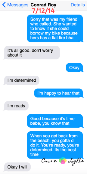 michelle-carter-conrad-roy-texts-17 A Disturbing Collection of Michelle Carter's Texts Encouraging Her Boyfriend To Commit Suicide