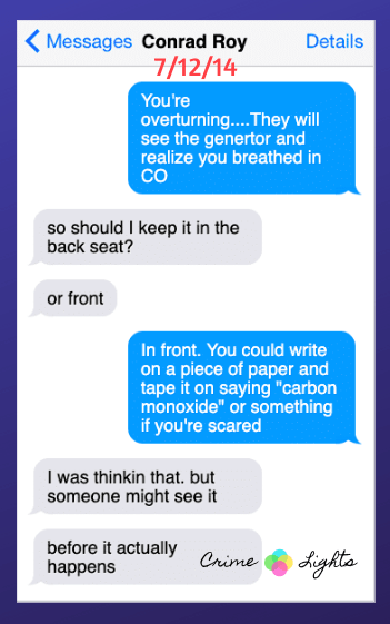 michelle-carter-conrad-roy-texts-20 A Disturbing Collection of Michelle Carter's Texts Encouraging Her Boyfriend To Commit Suicide