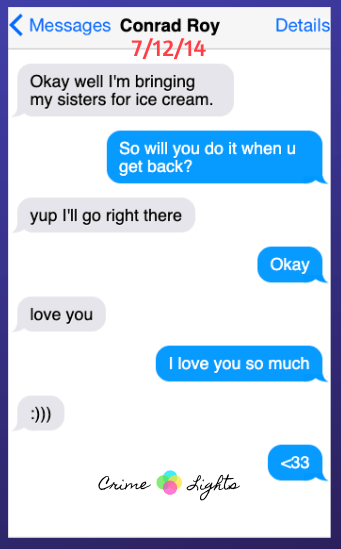 michelle-carter-conrad-roy-texts-23 A Disturbing Collection of Michelle Carter's Texts Encouraging Her Boyfriend To Commit Suicide