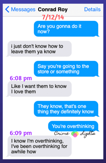michelle-carter-conrad-roy-texts-25 A Disturbing Collection of Michelle Carter's Texts Encouraging Her Boyfriend To Commit Suicide