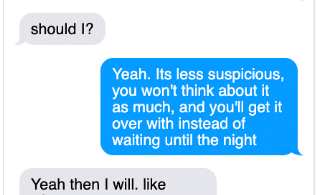 michelle-carter-conrad-roy-texts-5-316x195 A Disturbing Collection of Michelle Carter's Texts Encouraging Her Boyfriend To Commit Suicide