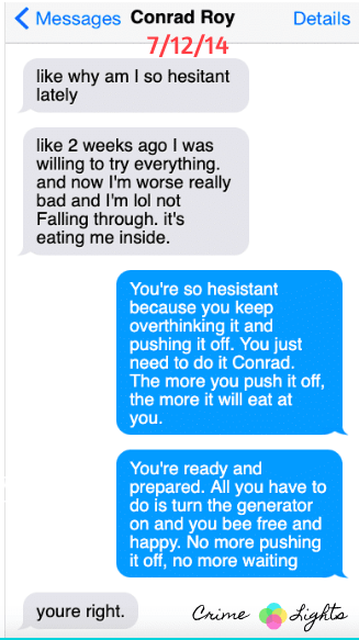 michelle-carter-conrad-roy-texts-7 A Disturbing Collection of Michelle Carter's Texts Encouraging Her Boyfriend To Commit Suicide